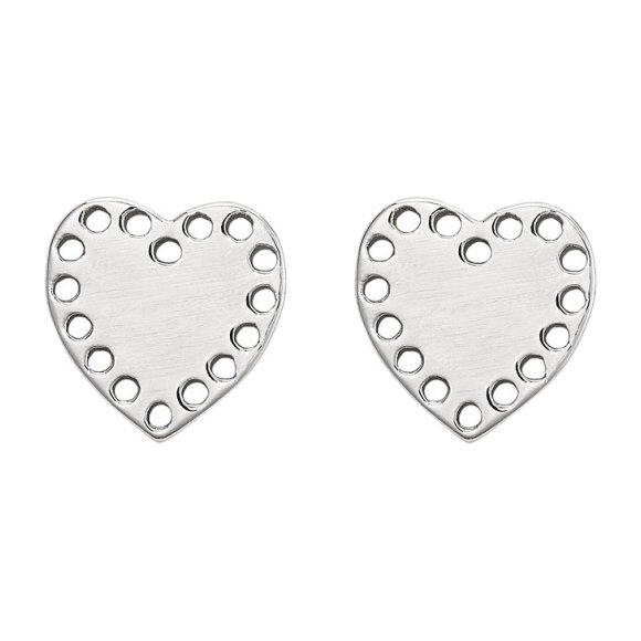 Petite Silver Heart Studs
