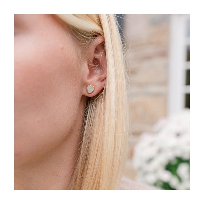 Petite Heart Stud Earrings