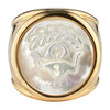 Mother of Pearl Zodiac Ring, Size 6