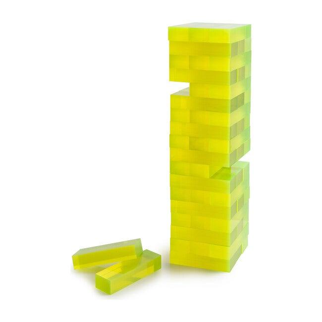 Tumble Tower, Yellow Neon Acrylic