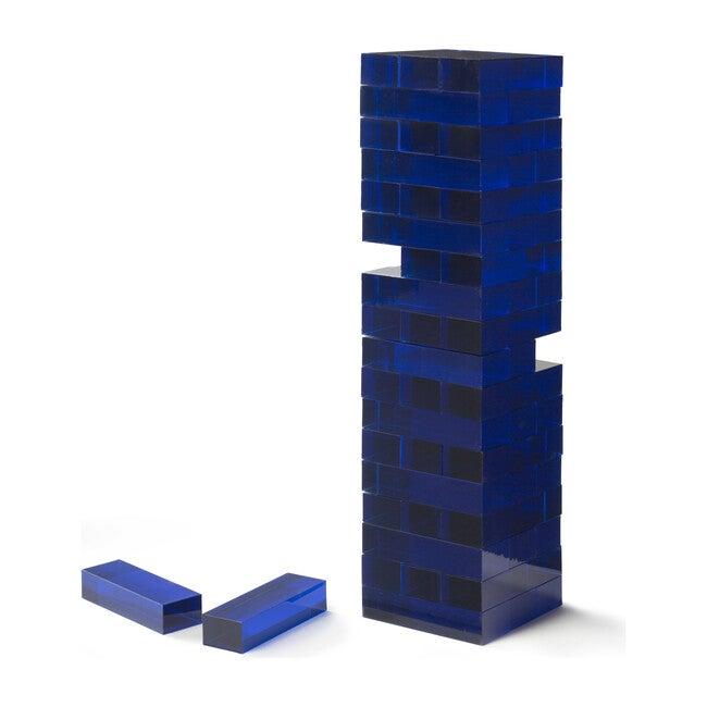 Tumble Tower, Blue Acrylic