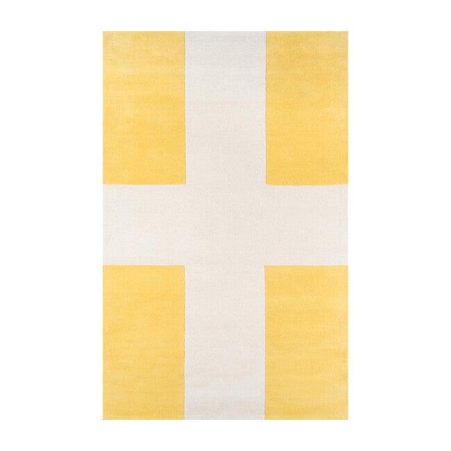 Delmar Chevalier Hand-Tufted Wool Rug, Yellow