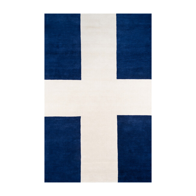 Delmar Chevalier Hand-Tufted Wool Rug, Navy
