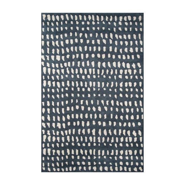 Delmar Boho Dots Hand-Tufted Wool Rug, Blue