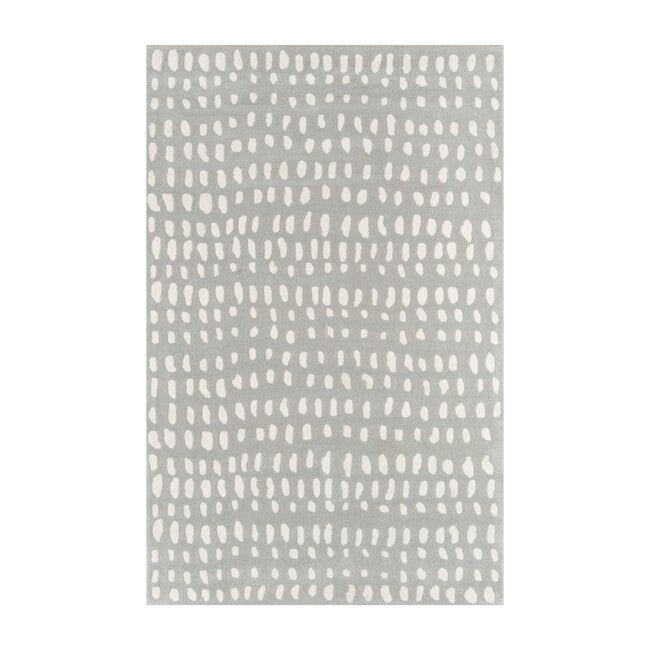 Delmar Boho Dots Hand-Tufted Wool Rug, Grey