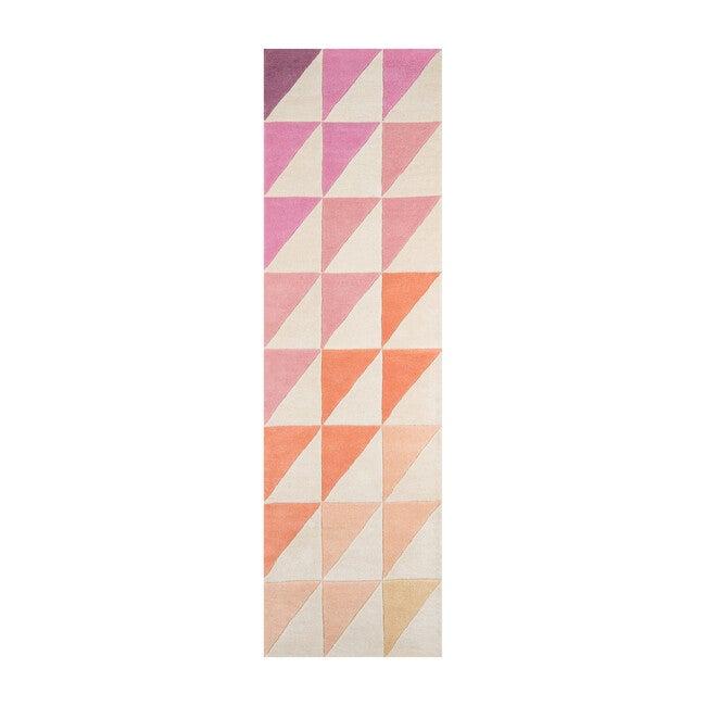 Delmar Agatha Triangle Hand-Tufted Wool Rug, Pink