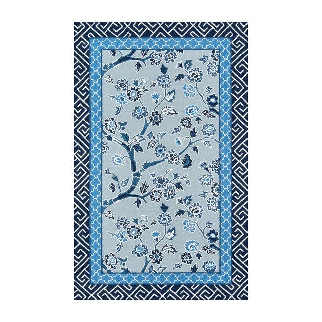 Under A Loggia Blossom Dearie Rug, Blue