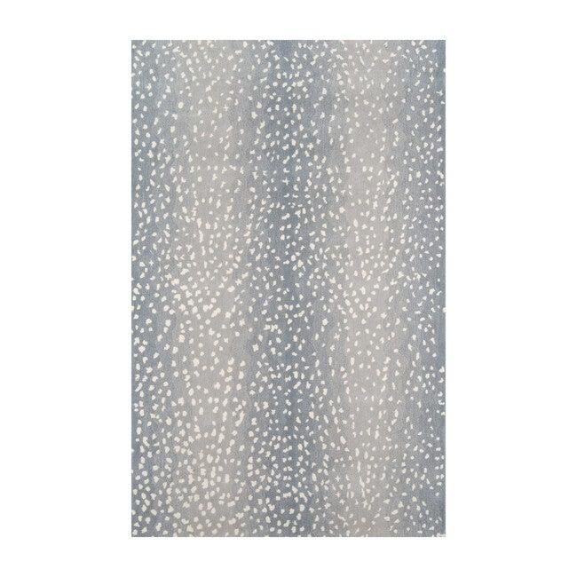 Woodland Antelope Hand-Tufted Wool Rug, Blue