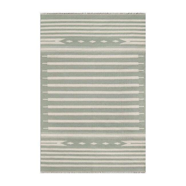 Thompson Billings Handwoven Wool Rug, Green