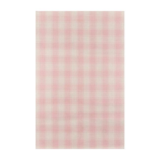 Marlborough Charles Plaid Handwoven Wool Rug, Pink