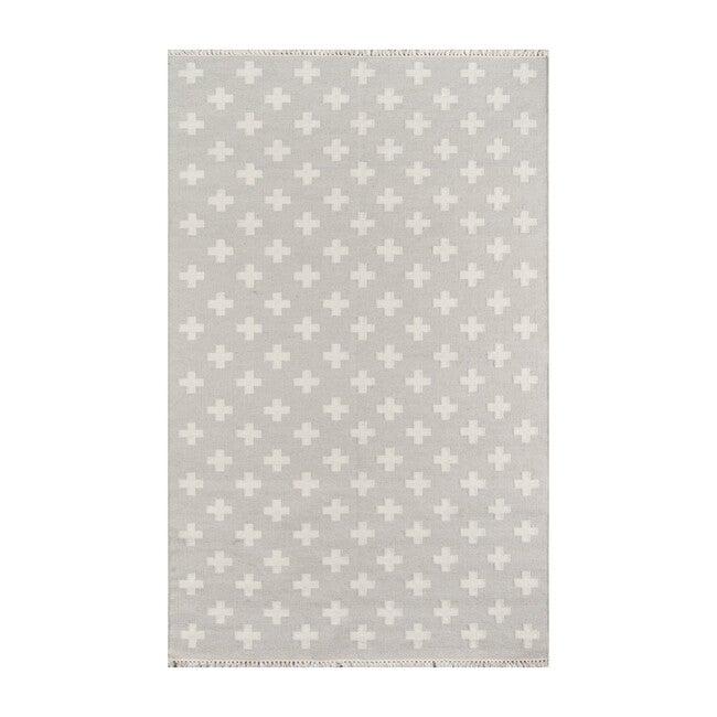Topanga Lucille Handwoven Wool Rug, Grey