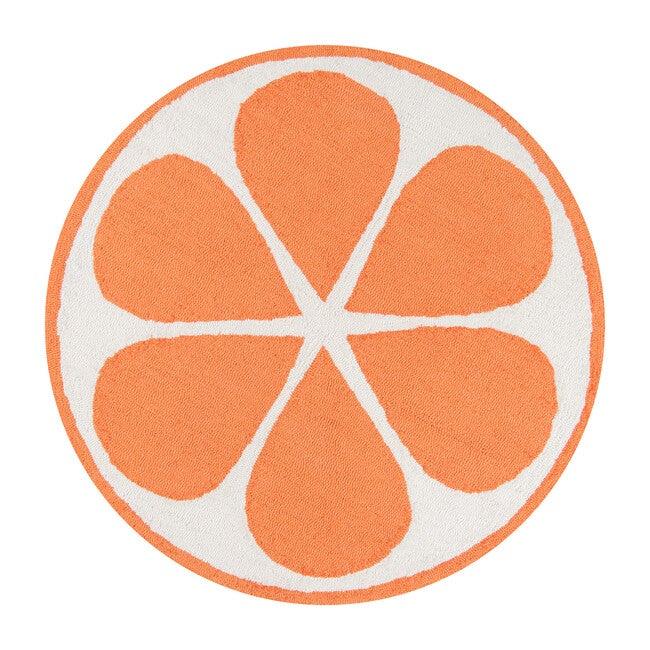 Tangerine Hand-Hooked Rug, Orange