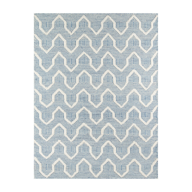 Langdon Prince Handwoven Wool Rug, Blue