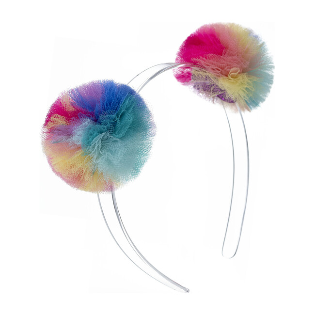 Double Pompom Headband, Vibrant Colors