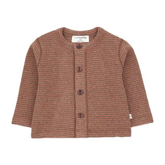 Terranova T-shirt With Thin Stripes, Brown