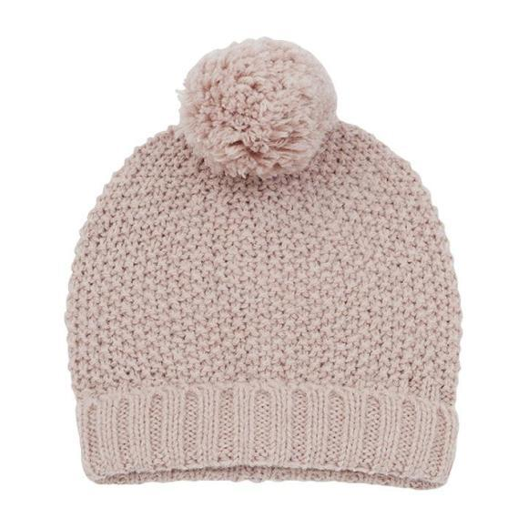 Santis Textured Knit Hat, Pink