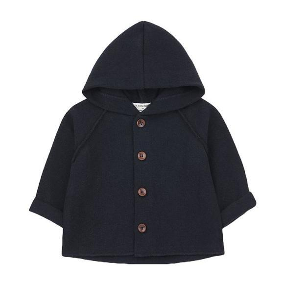Sau Sweater With Hood, Navy Blue