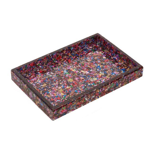 Acrylic Vanity Tray, Rainbow Confetti