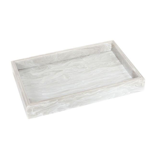 Acrylic Vanity Tray, Alabaster Marble