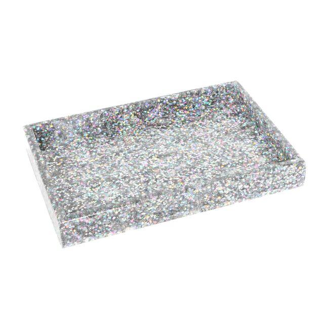 Acrylic Vanity Tray, Brilliant Star Confetti