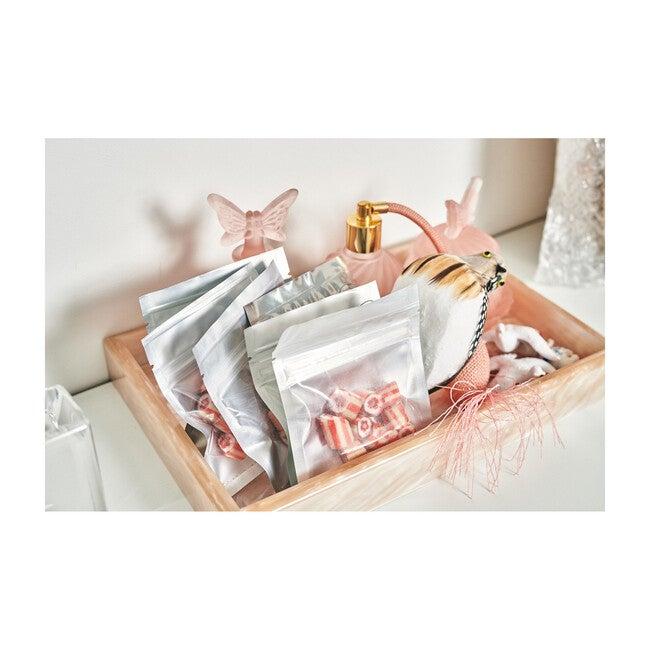 Acrylic Vanity Tray, Rose Quartz Pearlescent