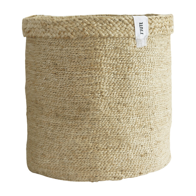 Assembly Tall Jute Basket, Natural