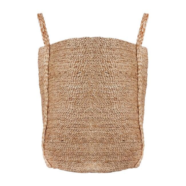 Bazar Tall Fringe Jute Basket, Natural