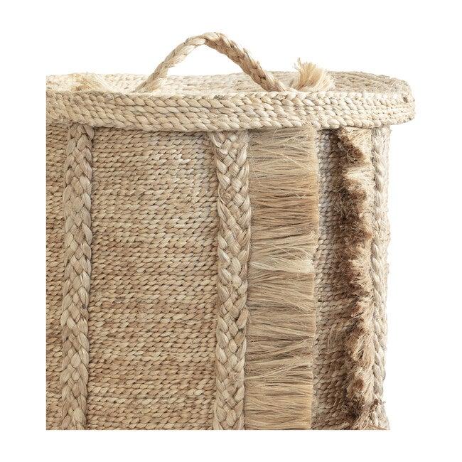 Round Basket Lid, Natural
