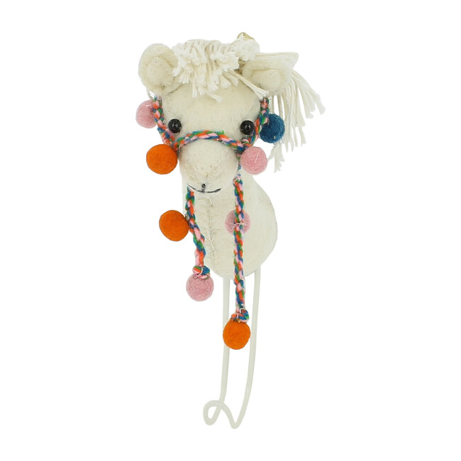 Llama with Pom-Pom Halter Hook, Multi