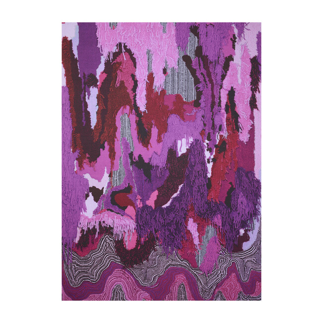 Flow Sweepable Shag Floormat, Pink