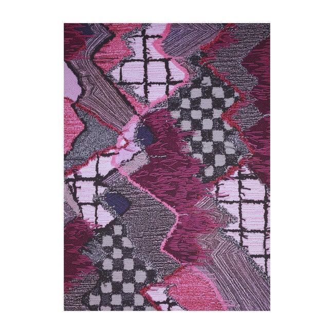 Upward Sweepable Shag Floormat, Pink