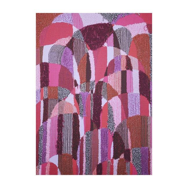 Magic Sweepable Shag Floormat, Pink