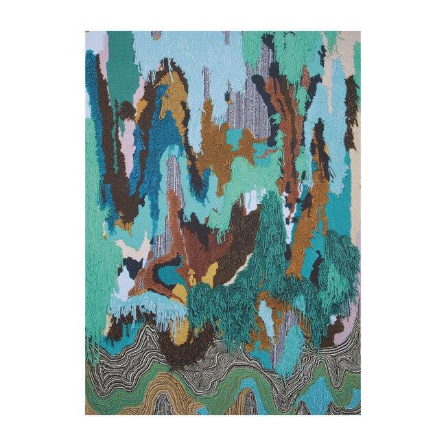Flow Sweepable Shag Floormat, Cyan