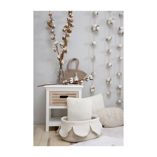 Petals Cotton Basket, Ivory