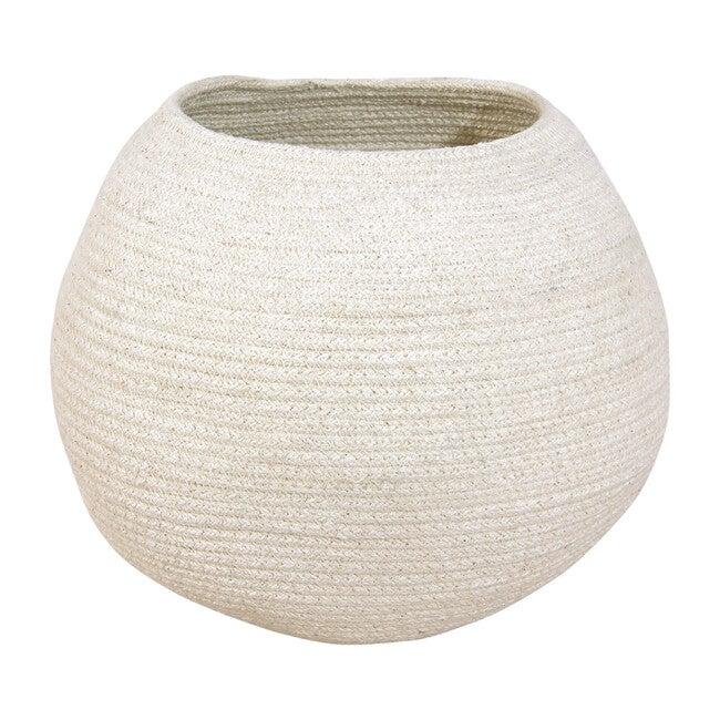 Bola Cotton Basket, Ivory