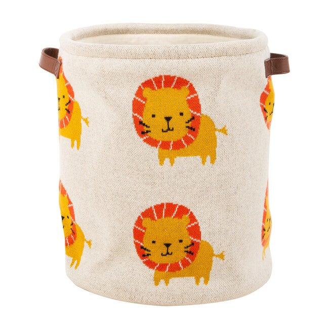 Dandy Lion Storage Basket, Red Multi