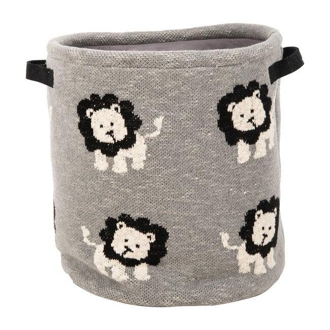 Leo Storage Basket, Dark Grey