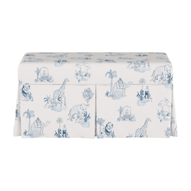 Skirted Storage Bench, Malin Toile Blue