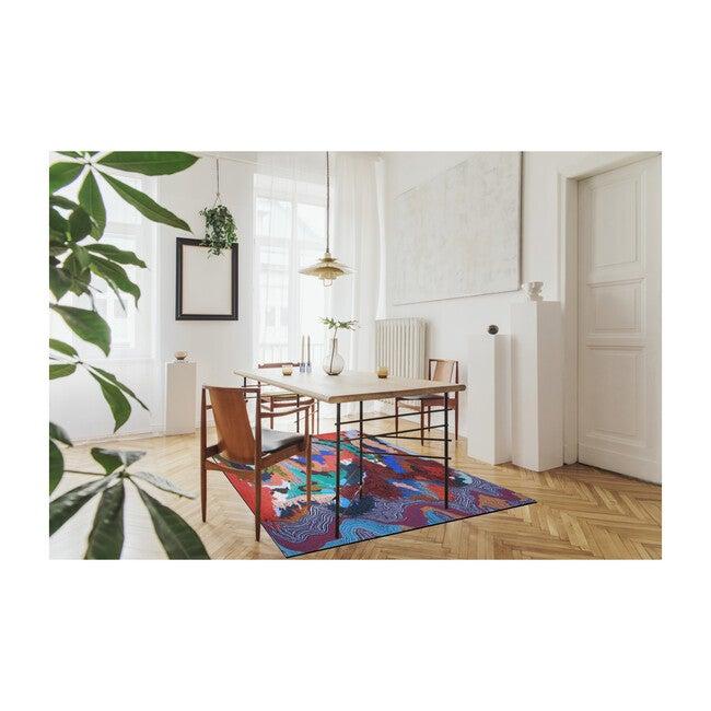 Flow Sweepable Shag Floormat, OG Multi