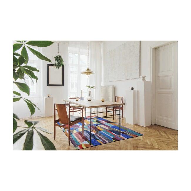 Magic Sweepable Shag Floormat, OG Multi