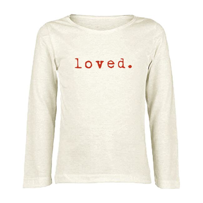 Loved Long Sleeve T-Shirt, Red