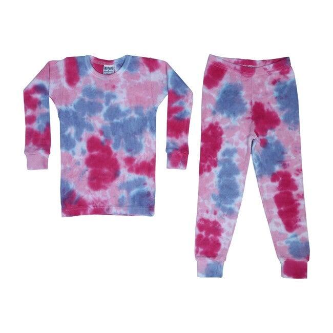 Tie Dye Thermal Pajamas, Diva - Pajamas - 1