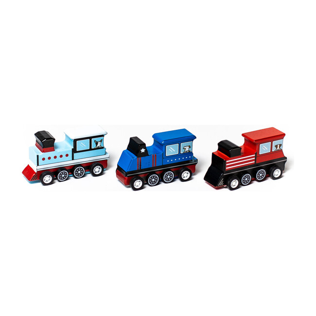 Pull Back Trains, Set of 3