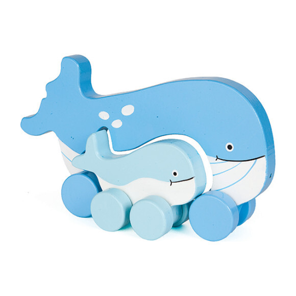 Mommy and Baby Rolling Toy, Whale