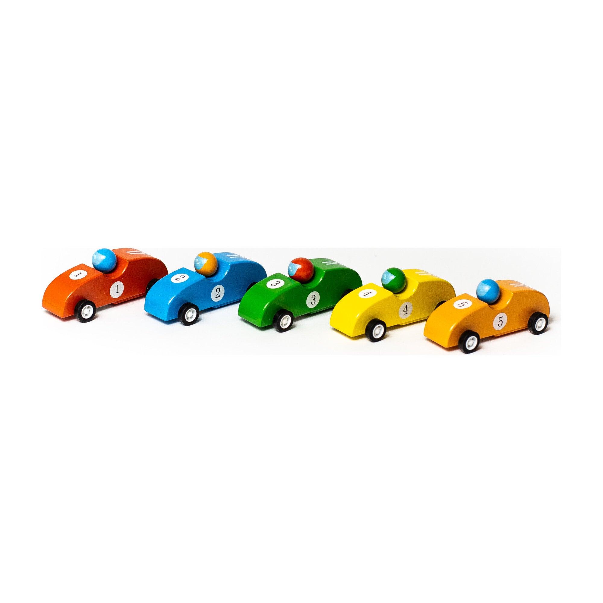 Pull Back Race Cars, Set of 5
