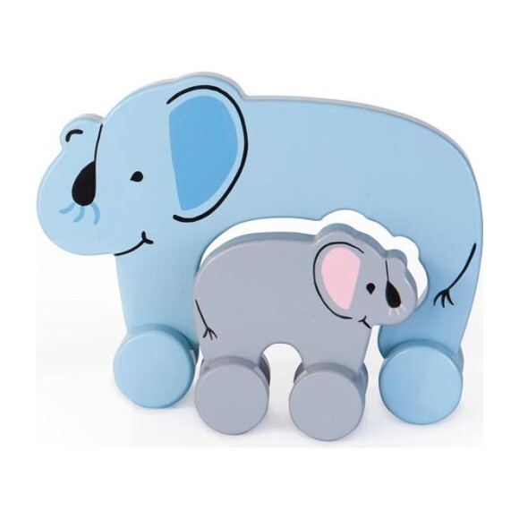 Mommy and Baby Rolling Toy, Elephant