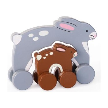 Mommy and Baby Rolling Toy, Bunny