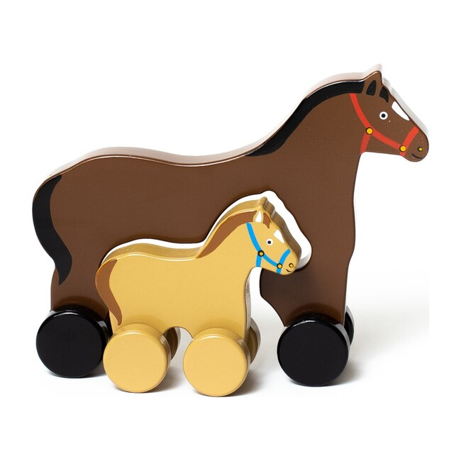 Mommy and Baby Rolling Toy, Horse