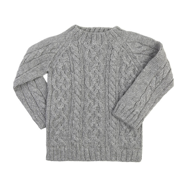 Cable Knit Sweater, Gray