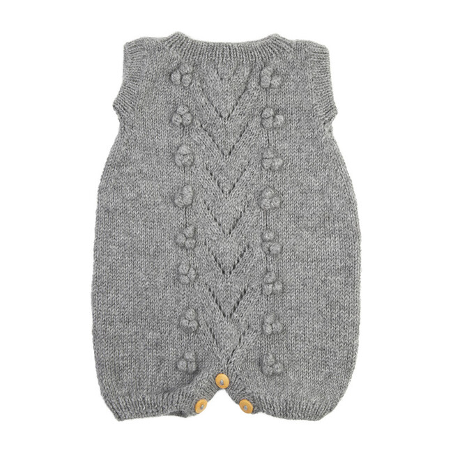 Knitted Romper, Gray